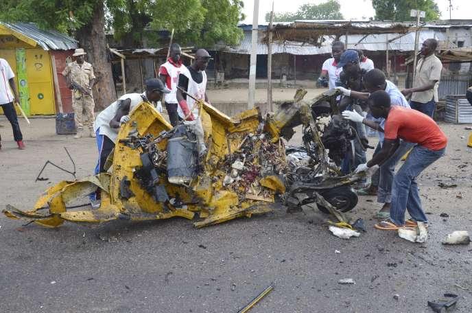 Après une attaque à la bombe à Maiduguri, capitale de l'Etat de Borno, en juillet.