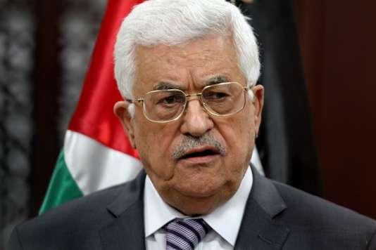 Le président de l'Autorité palestinienne, Mahmoud Abbas, à Ramallah, en 2015.