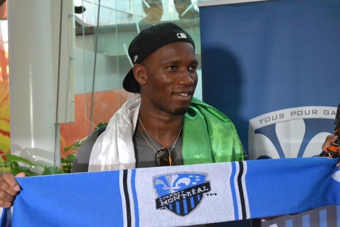 Didier Drogba, à son arrivée à Montréal où il rejoint le club de la ville, l'Impact