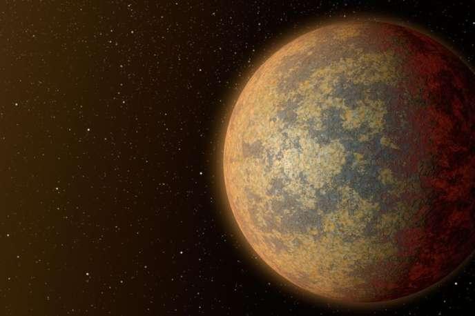 L'exoplanète HD 219134b imaginée par un artiste.