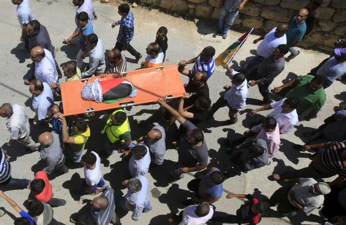 Les funérailles du petit Ali Dawabsha, 18 mois, vendredi 31juillet, à Douma, près de Naplouse.