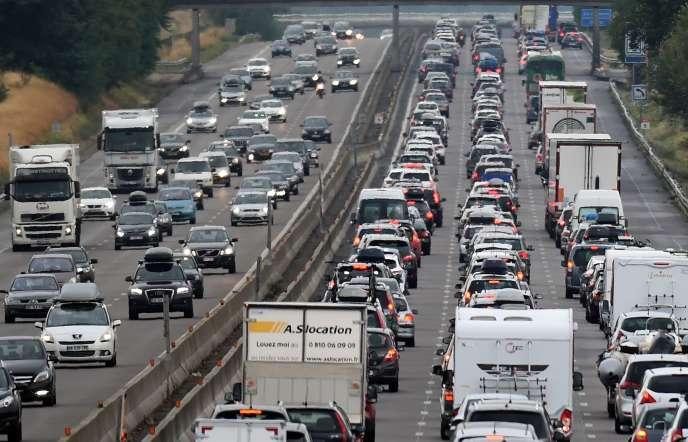 Autoroute A7 entre Vienne et Valence, le 1er août.