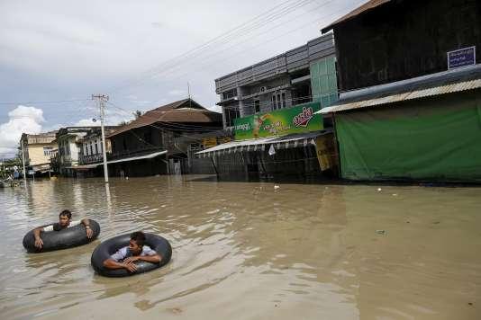 A Kale, dans la région de Sagaing , dans l'ouest de la Birmanie, le 2 août.