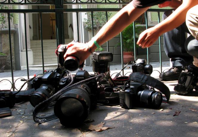 Manifestation de journalistes à Mexico en avril 2012 après l'assassinat d'un reporter.