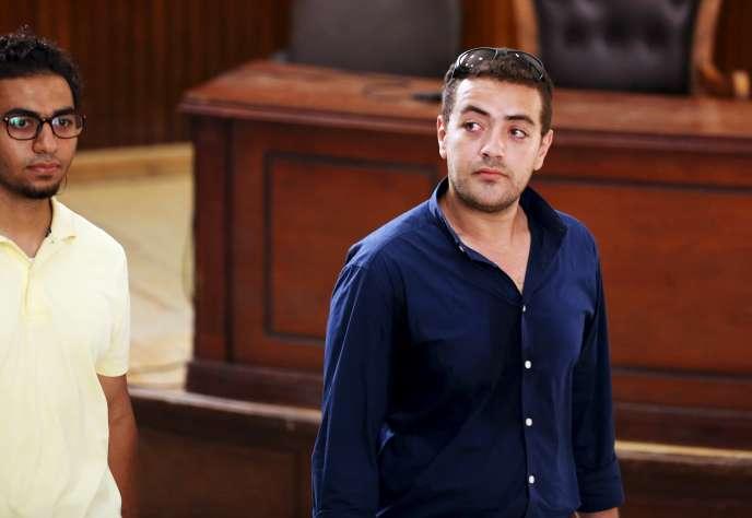 Le journaliste égyptien Baher Mohamed a été condamné à trois ans de prison ferme.