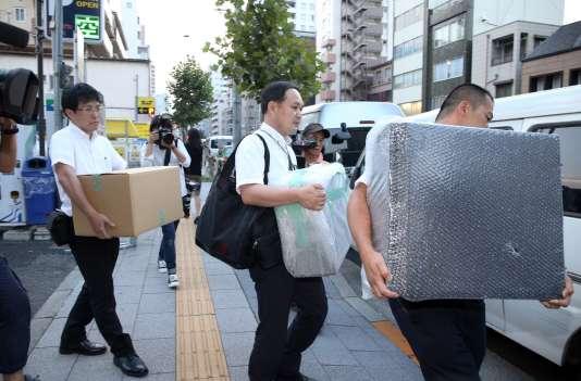 La police japonaise a perquisitionné l'appartement de Mark Karpelès, à Tokyo, le 3 août.