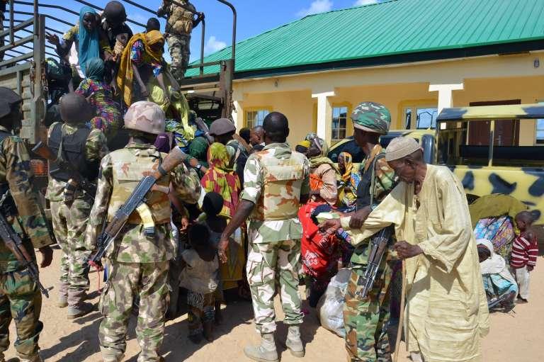 Des soldats nigérians dans la ville de Maiduguri, dans l'Etat de Borno, le 30 juillet.