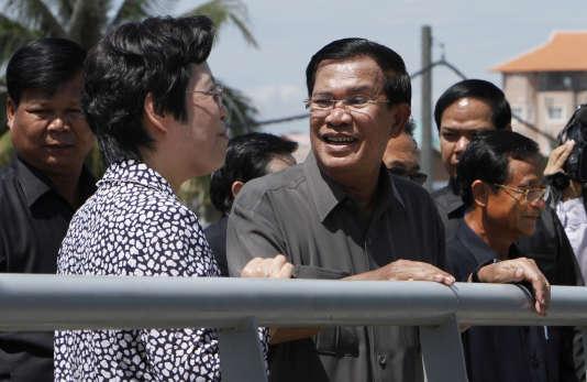 Hun Sen, le 3 août à Takhmao.
