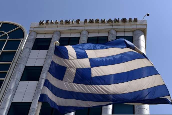 La Bourse d'Athènes, le 3 août.