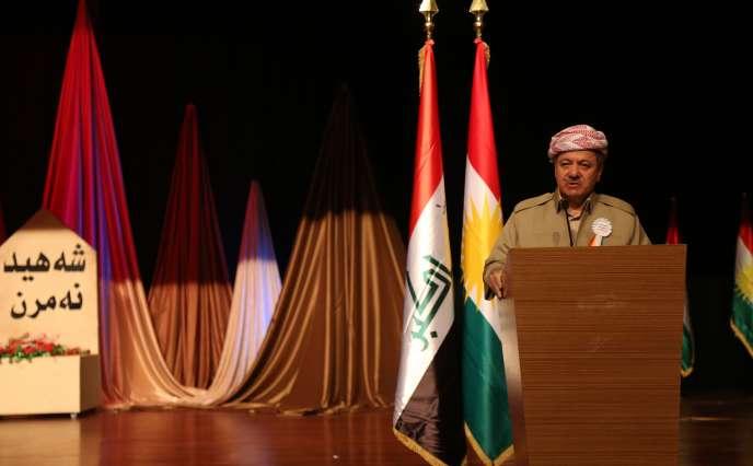 Le président du Kurdistan irakien, Moussad Barzani, à Dohuk, le 3 août.