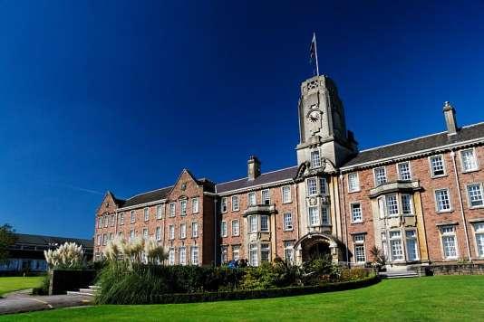 Le campus de l'université de Galles du Sud dans la ville de Caerleon au Pays de Galles.