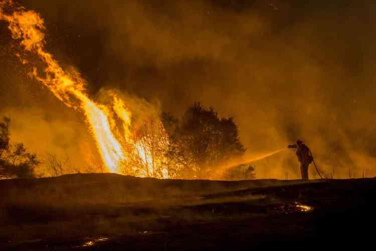 Selon un porte-parole des pompiers californiens, la progression de « Rocky fire » est « explosive », puisqu'il a détruit 80 kilomètres carrés en à peine cinq heures.