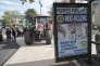 Une publicité Roc-Eclerc sur un arrêt de bus, à Nevers (Nièvre).