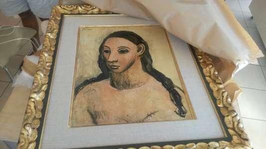 Le tableau de Pablo Picasso « Tête de jeune fille » a été saisi sur un bateau en Corse.