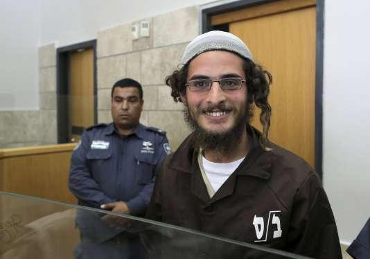 Meir Ettinger, 23 ans, au lendemain de son arrestation, le 4 août 2015.