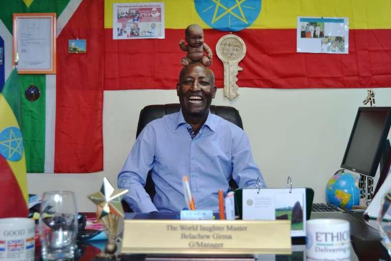 Belachew Girma, le détenteur du record du rire le plus long du monde.