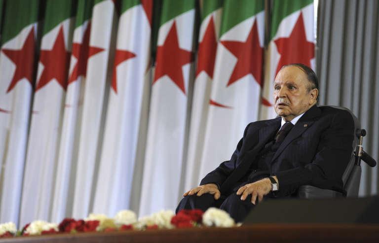 Le président algérien, Abdelaziz Bouteflika, après sa prestation de serment pour un quatrième mandat, à Alger, le 28 avril 2014.