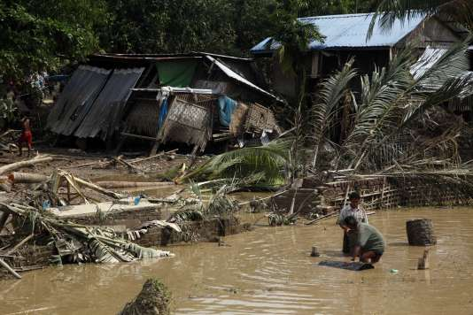A Mrauk-U, dans l'Etat Rahkine, dans l'ouest de la Birmanie, le 4 août.