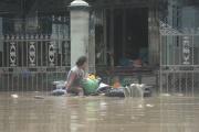 Des dizaines de milliers de personnes ont été déplacées après des inondations importantes en Birmanie en juillet 2018.