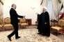 Le président iranien Hassan Rouhani (à droite) et Laurent Fabius à Téhéran le 29 juillet 2015.