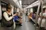 La maire Ada Colau, dans le métro de Barcelone, le 29juillet.