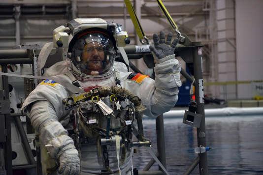 L'astronaute Alexander Gerst pendant la formation de la NASA, à Houston