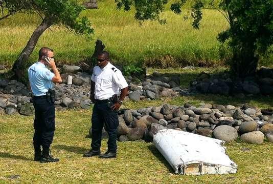 Le morceau d'aileron de Boeing découvert à La Réunion, le 29 juillet.