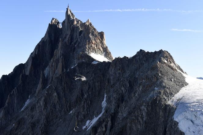 La plupart des effondrements de parois se produisent entre3100 et3500mètres d'altitude.