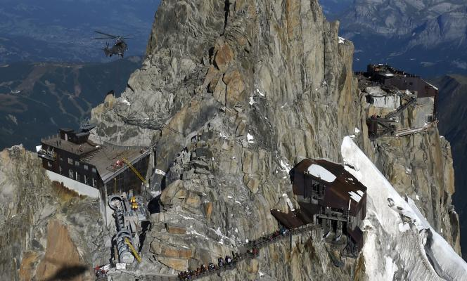 L'Aiguille du Midi, mercredi 5 août.
