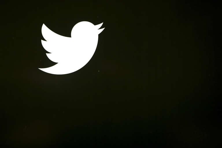 Le logo de Twitter, au siège du groupe à San Francisco.