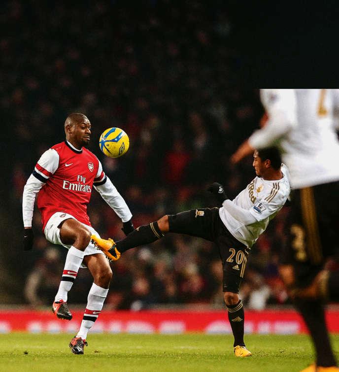 Abou Diaby lors d'un match opposant Arsenal à Swansea City, en janvier 2012.
