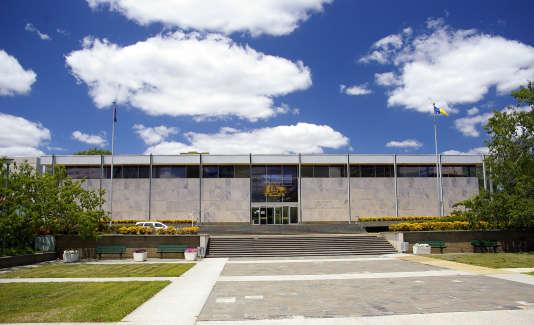 Le tribunal du territoire de la capitale australienne, où un ancien agent du renseignement est jugé, soupçonné d'avoir posté un document secret sur 4Chan.