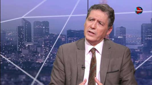 André Bonnet, cofondateur de l'association Promouvoir, sur le plateau de la chaîne TVLibertés, le 30 mai 2015.