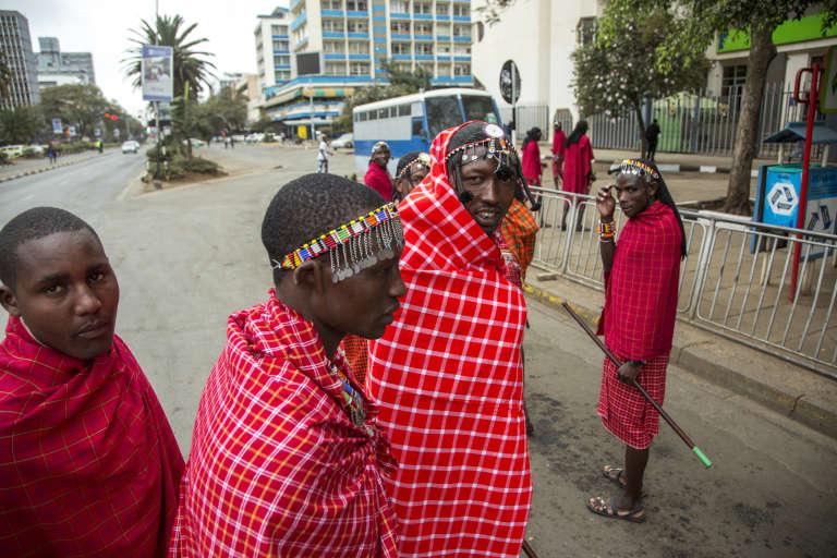 Des Massaï, à Nairobi, pour attendre le président Barack Obama le 25 juillet 2015.