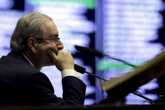 Le président de la chambre des députés, Eduardo Cunha, le 6 août 2015.