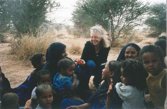 Colette Berthoud à Kidal  au Mali en 2000.