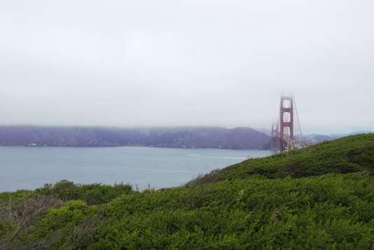 Vue de Marin County depuis le parc du Presidio à San Francisco.