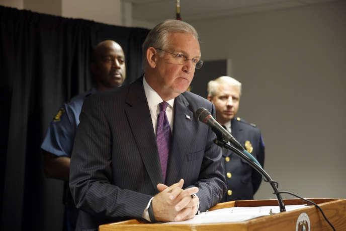 Le gouverneur du Missouri, Jay Nixon, un Etat qui impose des conditions drastiques aux femmes qui souhaitent bénéficier d'une interruption volontaire de grossesse. Ici, lors d'une conférence de presse à Saint Louis, en août 2015.