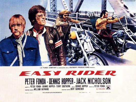 "Dennis Hopper et Peter Fonda dans ""Easy Rider"" (1969) de Dennis Hopper."