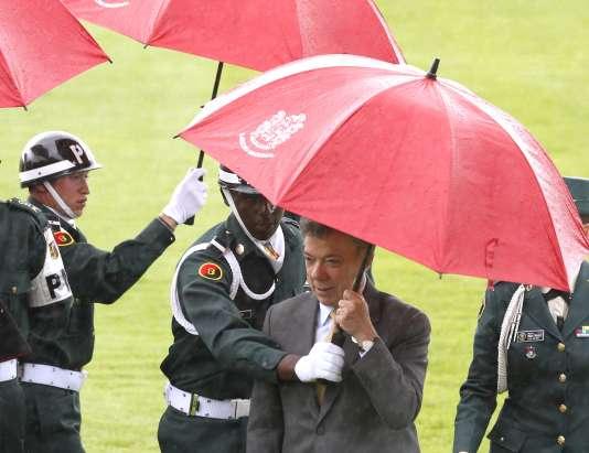 Le président colombien Juan Manuel Santos, le 7 août à Bogota.