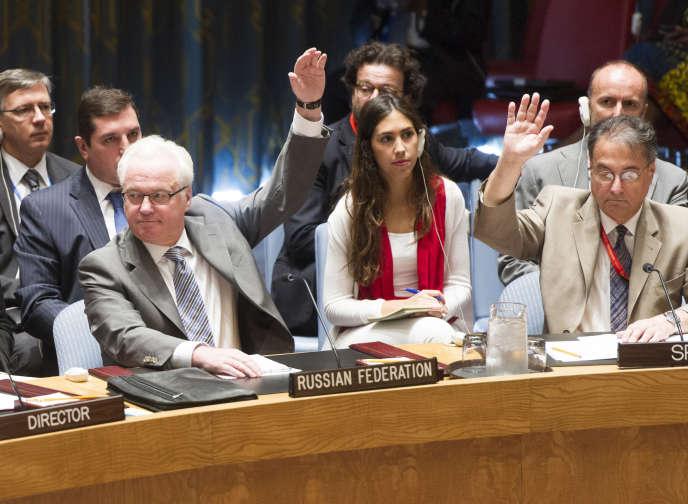 Le Conseil de sécurité de l'ONU vote en faveur de la création d'un mécanisme conjoint d'enquête pour désigner les responsables d'attaques chimiques au chlore en Syrie, le7août.