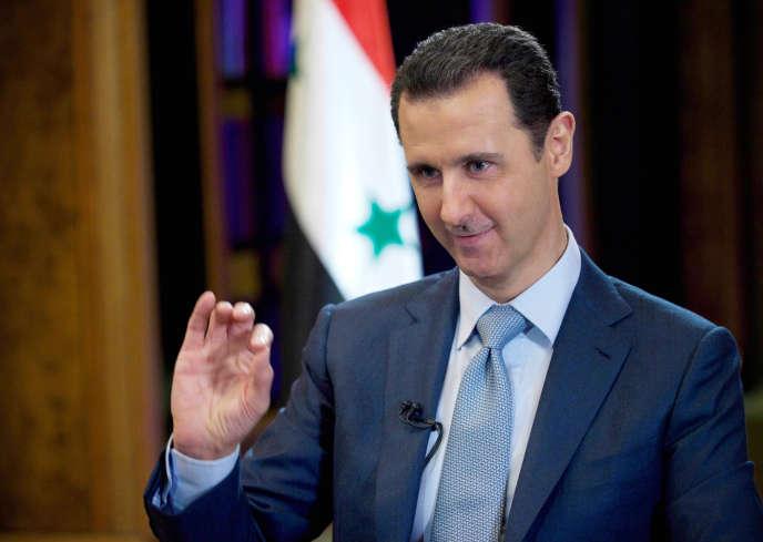 Le président syrien Bachar Al-Assad en février à Damas.