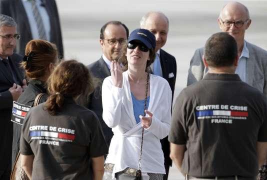 Isabelle Prime à son arrivée sur le tarmac de la base aérienne de Villacoublay, vendredi 7 août.