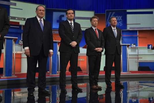 Mike Huckabee,  Ted Cruz, Rand Paul et John Kasich.