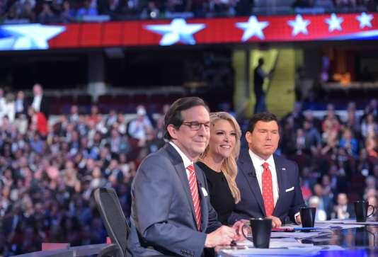 Megyn Kelly, au centre, journaliste star de la chaîne Fox News.