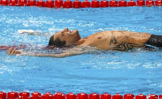Florent Manaudou est devenu champion du monde du 50 m nage libre, samedi 8 août à Kazan.