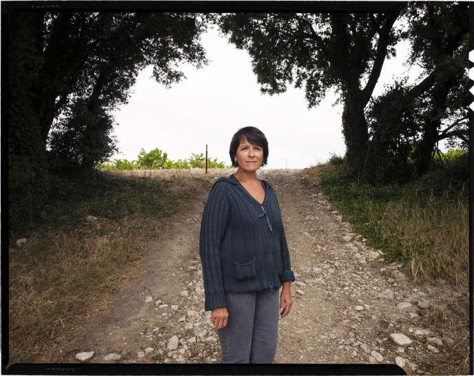 Michèle Aubery, dans la drôme.