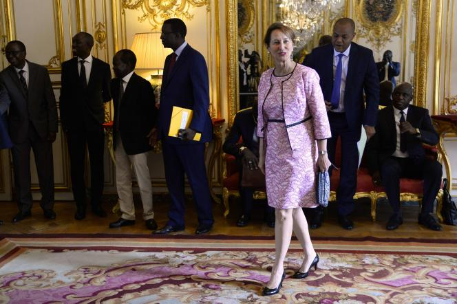 Ségolène Royal à Matignon, le 24 juillet, lors de la visite du premier ministre sénégalais.