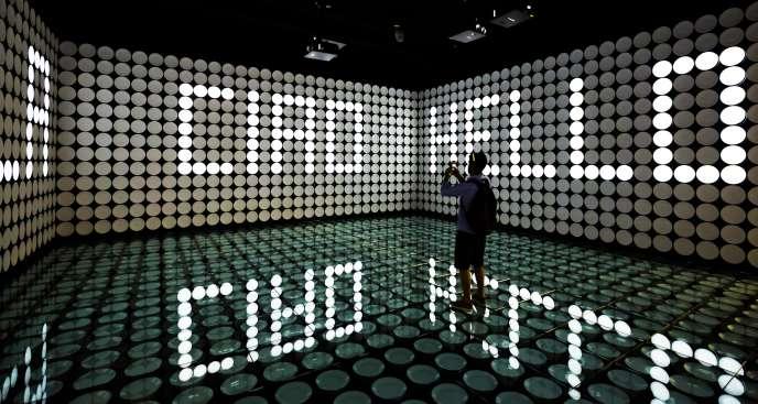 Installation à base de LED au pavillon espagnol de l'Exposition universelle de Milan 2015.