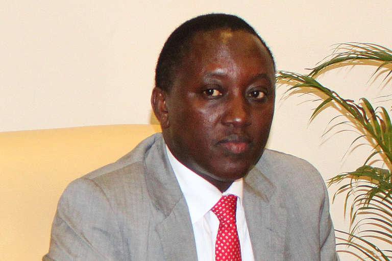 Le général rwandais Karake durant une réunion sur la sécurité à Kinshasa. L'actuel chef des renseignements avait été arrêté le 20 juin 2015 à Londres, suite à une procédure judiciaire espagnole.
